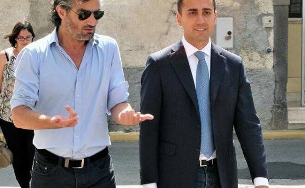 Mario Puddu con Luigi Di Maio